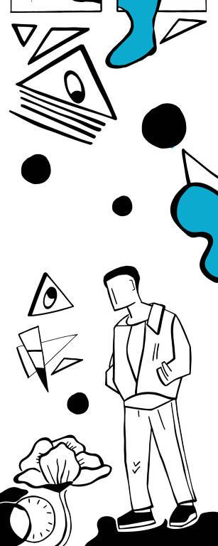 ilustração mostra ator em crise