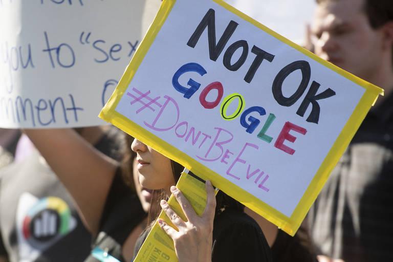 Funcionários do Google protestam contra casos de assédio