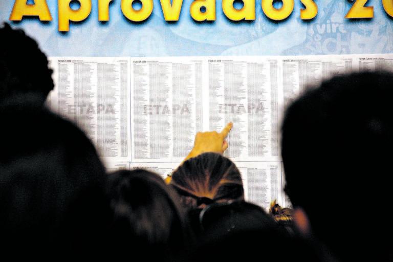 Estudantes do cursinho Etapa acompanham divulgação da lista da Fuvest