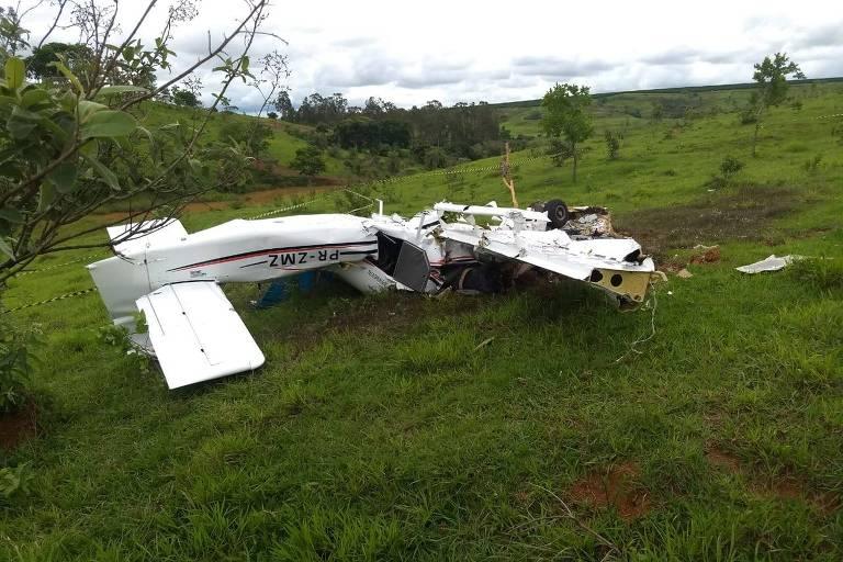Avião que caiu em Patos de Minas