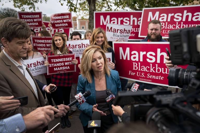 A republicana Marsha Blackburn, que tenta o Senado pelo estado do Tennessee