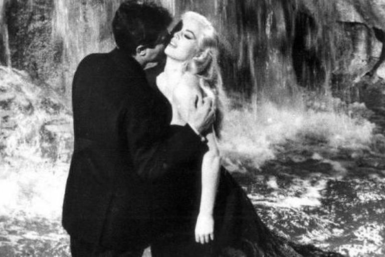 O clássico 'A Doce Vida', de Fellini, com Anita Ekberg e Marcello Mastroianni, está entre os 10 primeiros colocados da votação