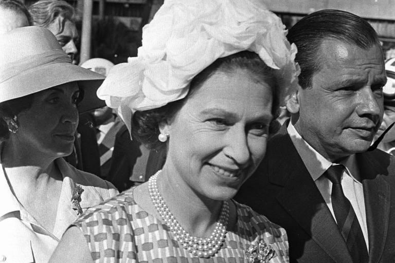 Rainha Elizabeth 2ª visita São Paulo em 1968