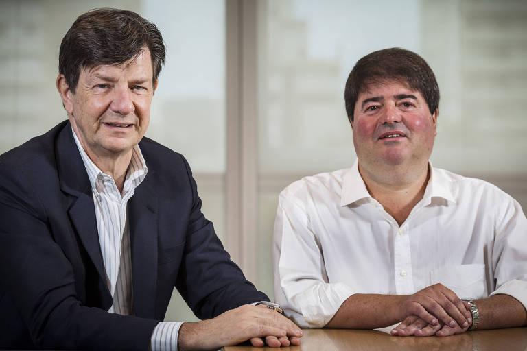 Roberto Setubal e Pedro Moreira Salles, co-presidentes do conselho de administração do Itaú Unibanco