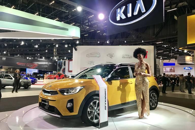 Kia Motors exibe utilitário compacto Stonic no Salão do Automóvel de São Paulo). ( Foto: Eduardo Sodré / Folhapress). ***EXCLUSIVO***