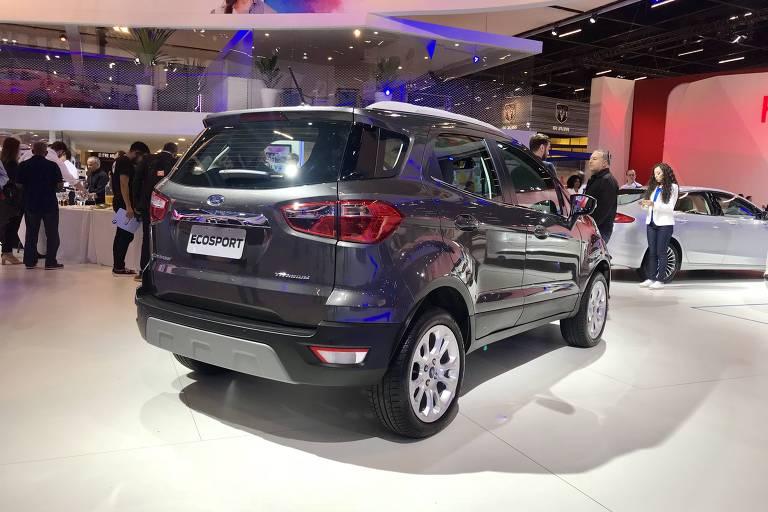 Ford EcoSport Titanium, no Salão do Automóvel de SP, sem o estepe pendurado na tampa traseira). ( Foto: Eduardo Sodré / Folhapress). ***EXCLUSIVO***