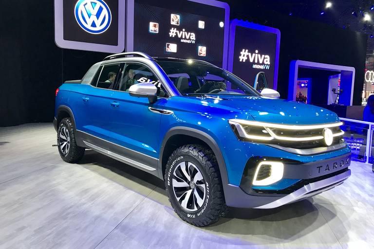 Volkswagen apresenta no Salão do Automóvel de São Paulo picape conceitual Tarok, futura concorrente da Fiat Toro