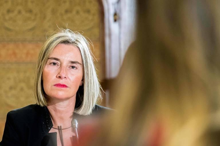 Federica Mogherini, chefe da diplomacia da União Europeia, em foto desta terça (6)