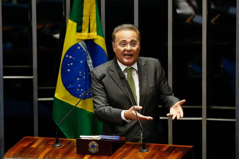 Renan Calheiros (MDB-AL), alvo de inquérito que apura suposta atuação do senador a favor de empreiteira