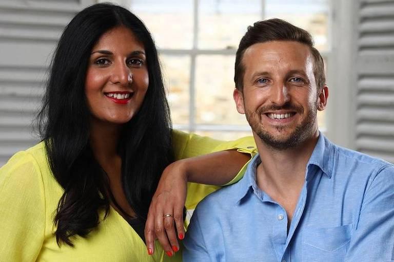 Radha e Lee se conheceram por meio de um site de relacionamentos