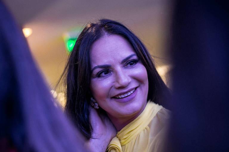 A atriz Luiza Brunet  durante a 13ª edição do Prêmio Empreendedor Social realizado no Teatro Porto Seguro, em São Paulo (SP), 2017