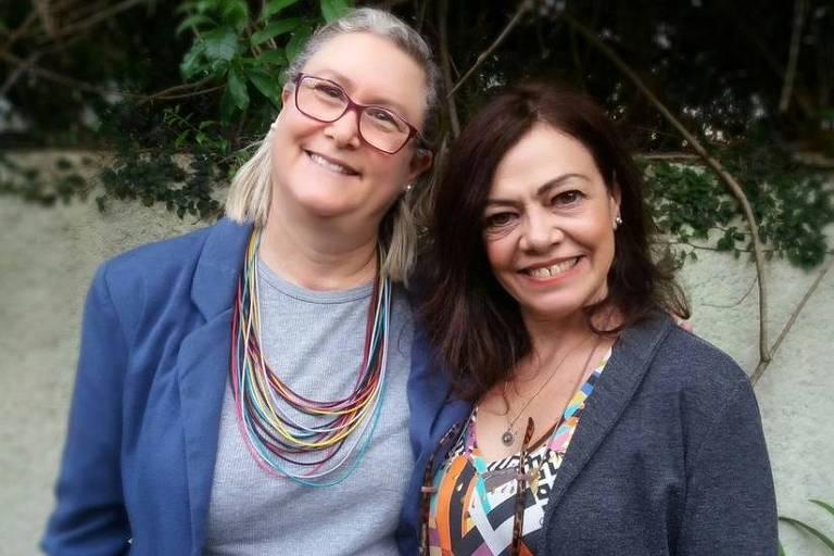 Marta Monteiro e Veronique Forat, 61 e 64, desenvolveram a plataforma de residência compartilhada morar.com.vc