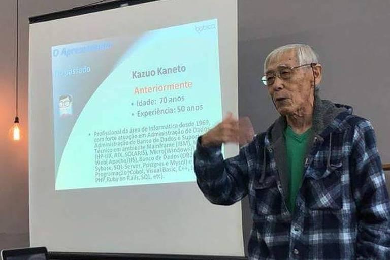 Kazuo Kaneto, 71, criou o sistema de gestão escolar Babica aos 60