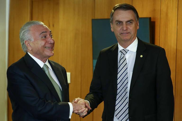 Bolsonaro é o mais calmo da equipe do futuro governo, diz Temer a magistrados