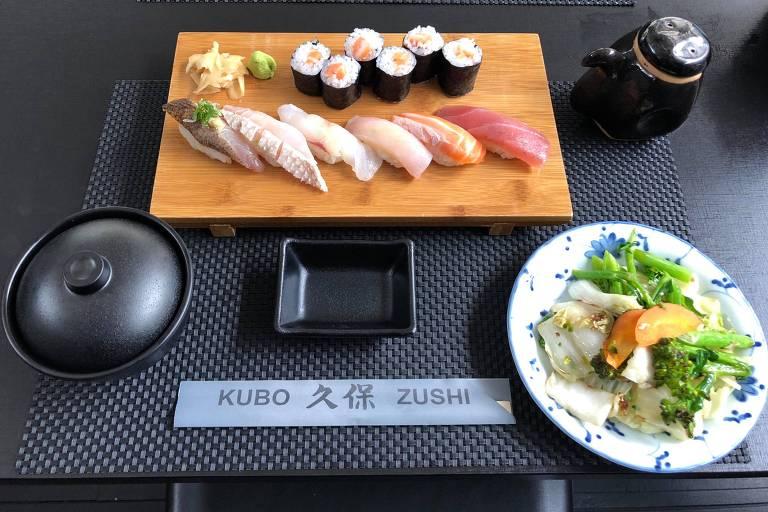 Sashimis e sushis servidos no Kubo Zushi, novidade na Vila Madalena