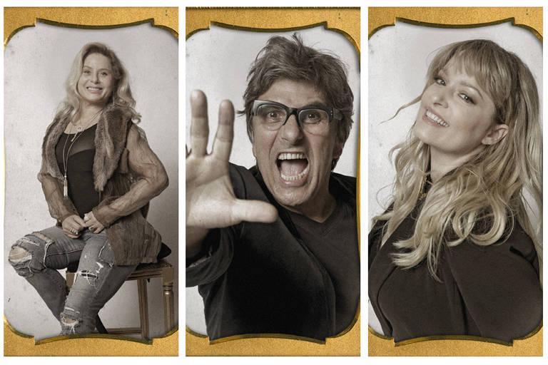 Luciana Vendramini, o Evandro Mesquita e a Vera Fisher fazem um trio de humor da novela 'Espelho da Vida'