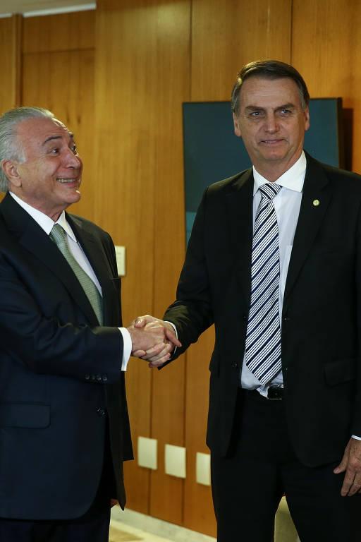 Temer e Bolsonaro se encontram em novembro