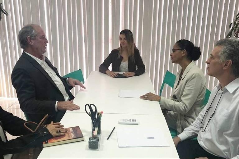 Ciro Gomes (PDT) e Marina Silva (Rede) se encontram em Brasilia para articular bloco de oposição ao governo Bolsonaro, mas sem o PT