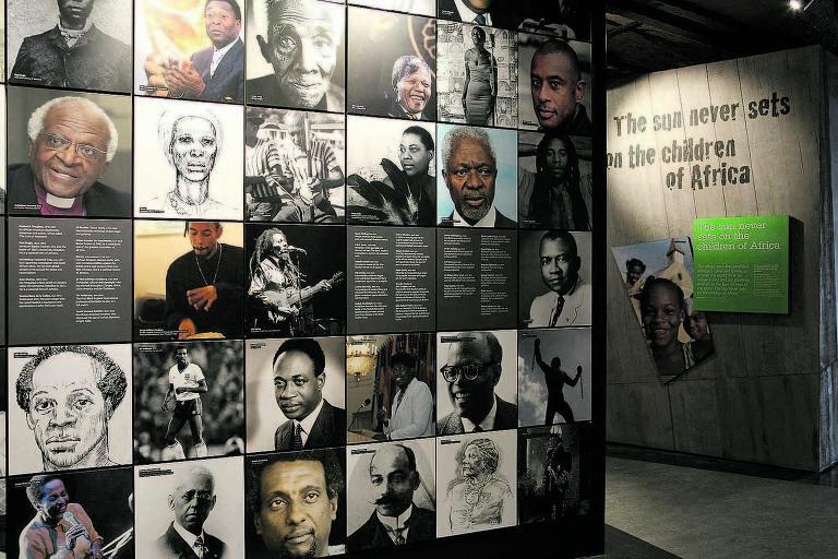 Mural do Museu Internacional da Escravidão, em Liverpool