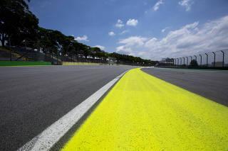 Preparativos para o Grande Prêmio Brasil de Fórmula 1.