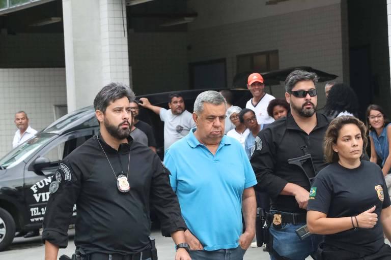O presidente da Alerj, deputado Jorge Picciani, se entrega à Polícia Federal, no Rio de Janeiro (RJ)