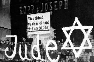 Germany: A Jewish-owned shop vandalized by Nazis
