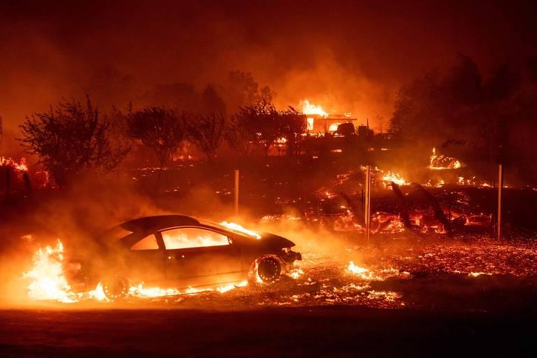Resultado de imagem para incêndio california