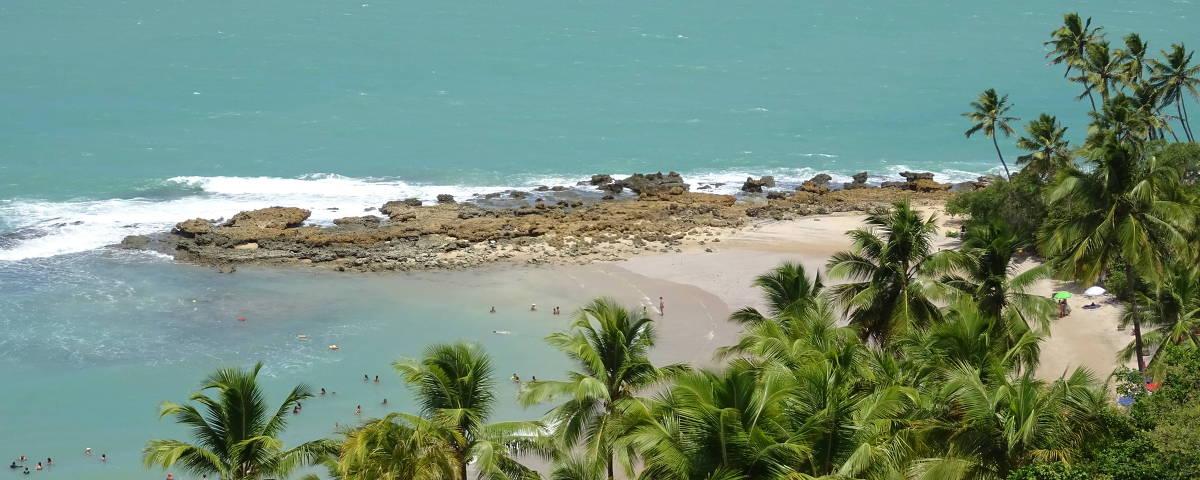Praia de Coqueirinho, no Conde, região metropolitana de João Pessoa