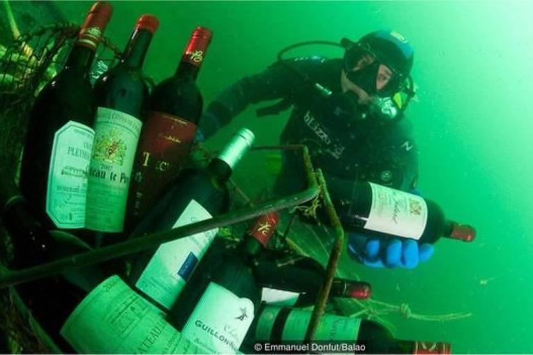 A cidade francesa que envelhece vinho no fundo do mar