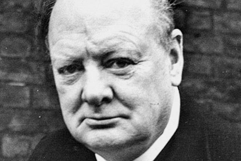 O primeiro-ministro britânico Winston Churchill