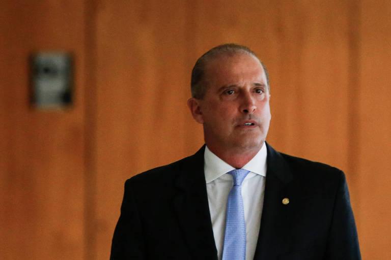 O futuro ministro da Casa Civil, Onyx Lozenzoni (DEM-RS), após a primeira reunião de transição