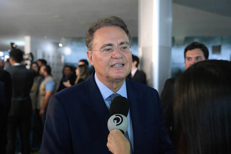 Senador Renan Calheiros (MDB-AL), que saiu em defesa de Flávio Bolsonaro