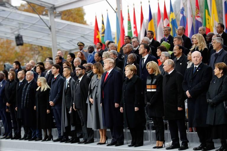Comemorações de cem anos do armistício que pôs fim à Primeira Guerra Mundial