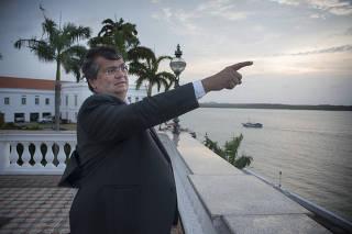 O governador do Maranhão, Flávio Dino