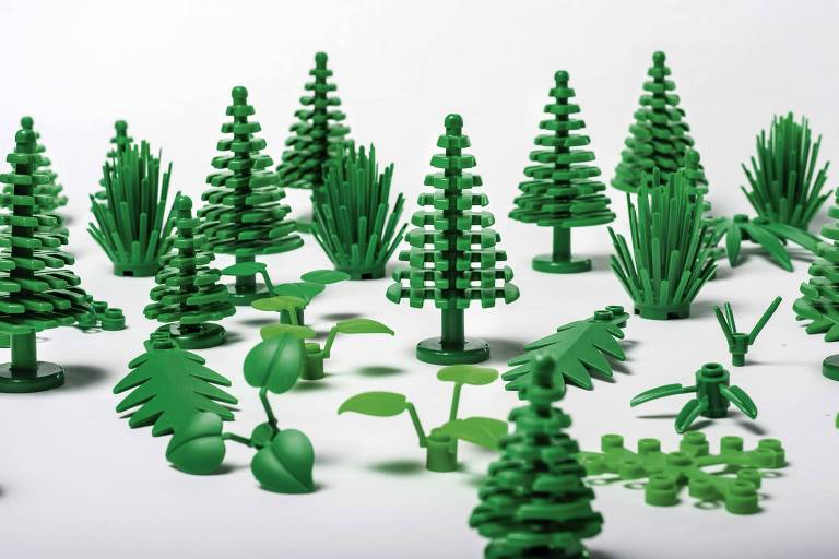 Lego Botanical feito com plástico verde da Braskem