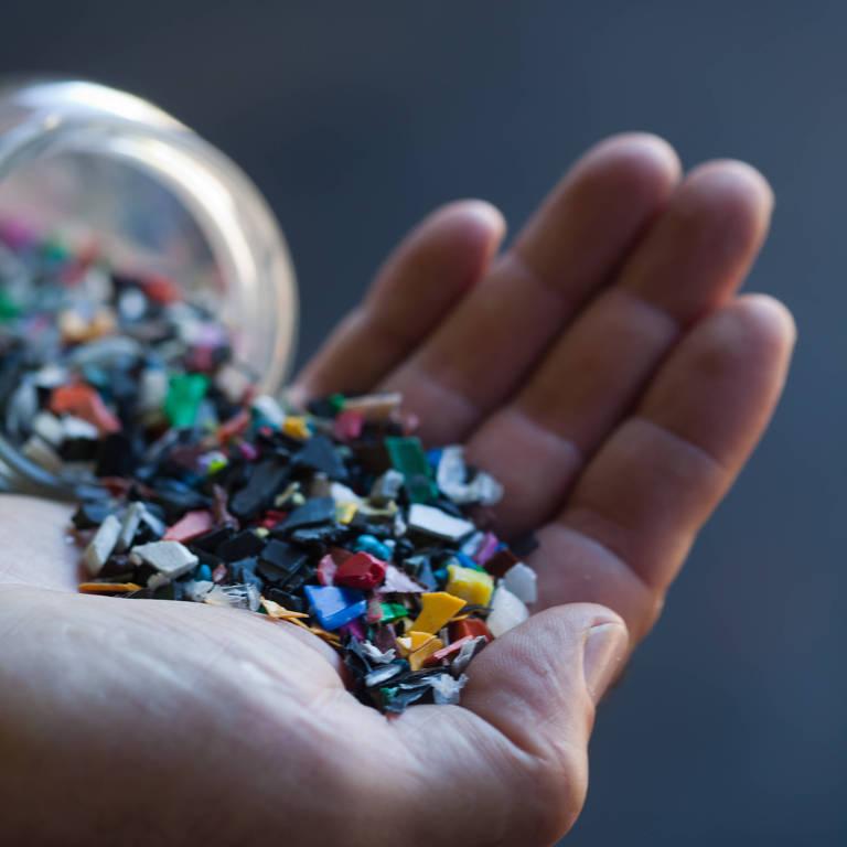 Granulados de plástico da Braskem
