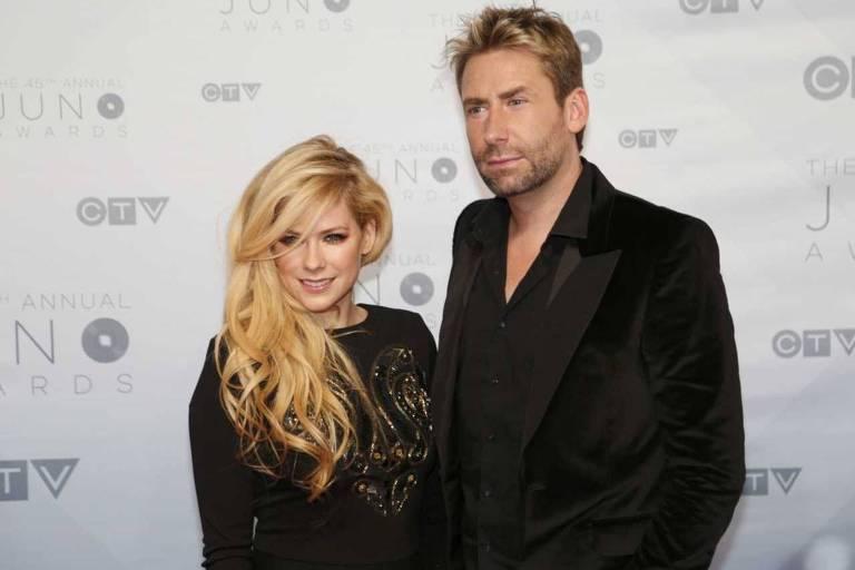 Avril Lavigne e o ex-marido, Chad Kroeger,
