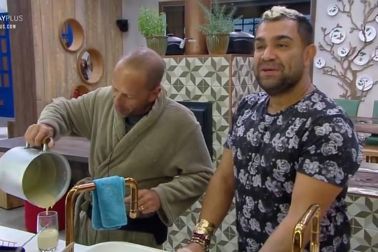 Evandro critica Luane em papo com Rafael