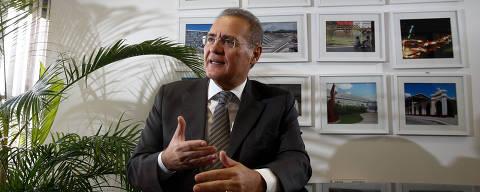BRASÍLIA, DF, 06.07.2017: RENAN-CALHEIROS - O senador Renan Calheiros (PMDB-AL) em seu gabinete no Senado Federal. (Foto: Pedro Ladeira/Folhapress)