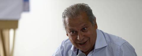 BRASILIA, DF,  BRASIL,  29-08-2018, 12h00: O ex ministro do governo Lula José Dirceu durante coletiva de imprensa para falar sobre o livro que ele escreveu durante o período que esteve preso, em Brasília. (Foto: Pedro Ladeira/Folhapress, PODER)