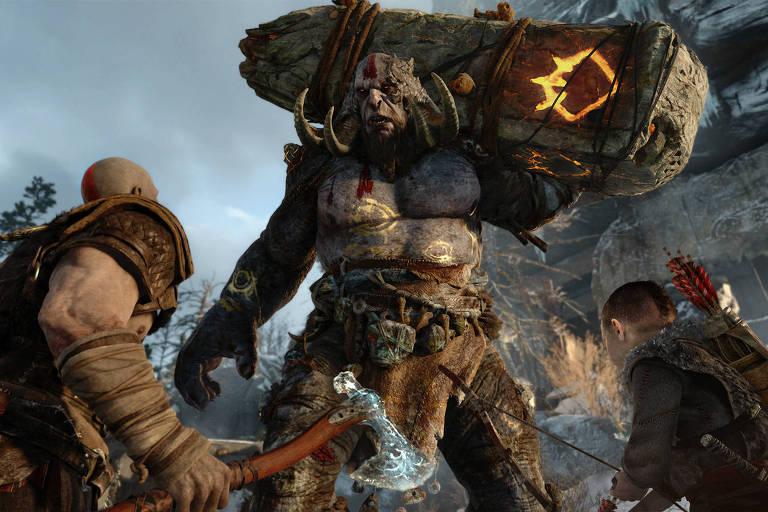 Cena do jogo God of War, que está indicado ao Game Awards 2018