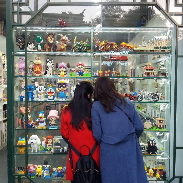 Compras e passeios no centro antigo de Pequim