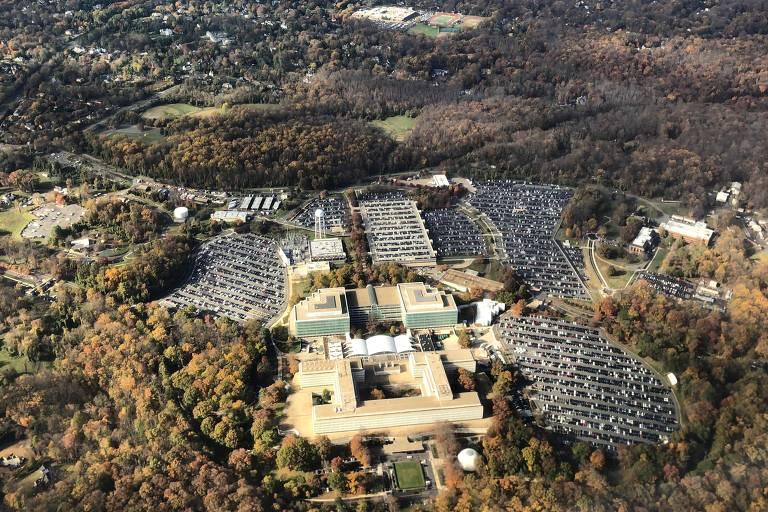 Foto aérea do quartel-general da CIA na Virgínia
