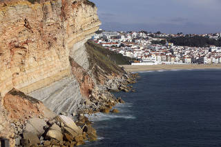 View of Nazare from Sitio, Portugal.