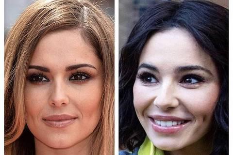 Cheryl Cole antes e depois de supostas cirurgias plásticas