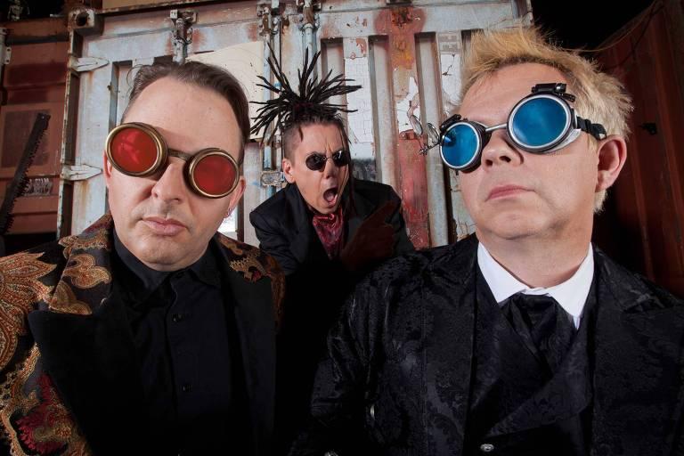 Da esquerda para a direita, James Cassidy, Kurt Harland e Paul Robb, integrantes da banda americana Information Society
