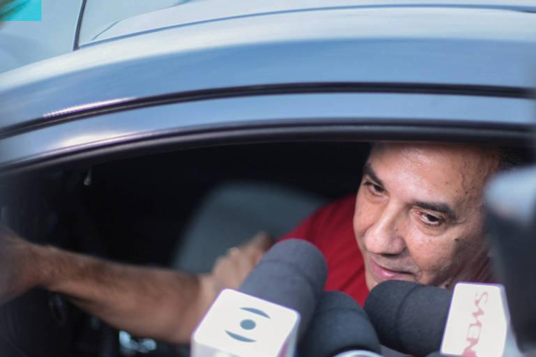 O pastor Silas Malafaia após visita ao presidente eleito, Jair Bolsonaro (PSL), em sua casa no Rio de Janeiro