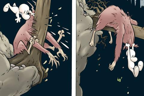 pagina da história em quadrinhos Bone, de Jeff Smith, da Todavia Foto: Divulgação
