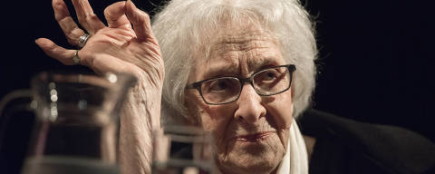 FILE - In this Oct. 13, 2018 photo, Uruguayan poet Ida Vitale speaks during the FILBA inaugural conference at the Spanish Cultural Center in Montevideo, Uruguay. 95 year old Uruguayan poet Ida Vitale has become the fifth woman to be recognised with a Cervantes Prize, the main literary award in the Spanish language, it was announced on Thursday Nov. 15, 2018. (AP Photo/Matilde Campodonico, File) ORG XMIT: PW101