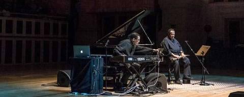 SAO PAULO - SP - 30.03.2016 - ILUSTRADA - Brasil Jazz Fest  - Abertura do festival BrasilJazzFest com show de Herbie Hancock (piano) e Wayne Shorter, na Sala Sao Paulo. Foto: Keiny Andrade / Folhapress